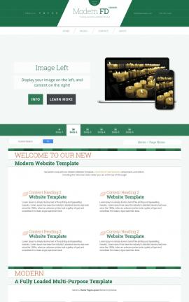 Modern Religion Website Template