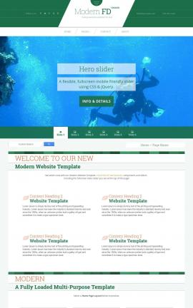 Modern Scuba-diving Website Template