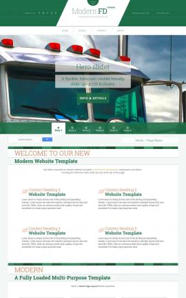 Modern Trucking Website Template