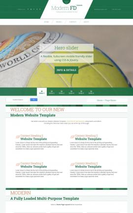 Modern Volleyball Website Template