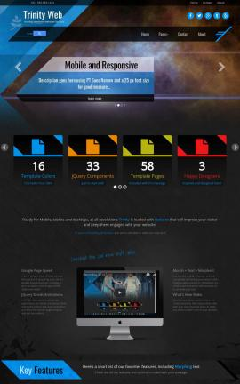 Trinity Astronomy Website Template
