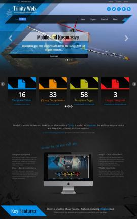 Trinity Aviation Website Template