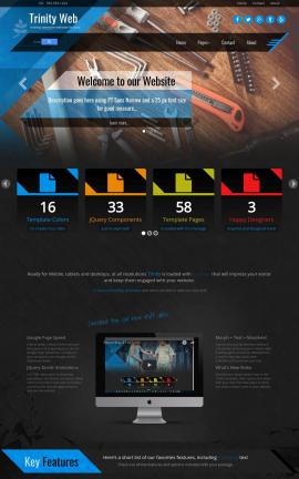 Trinity Construction Website Template