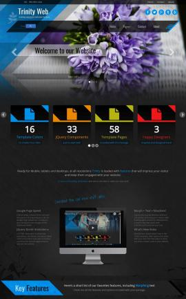 Trinity Floral Website Template