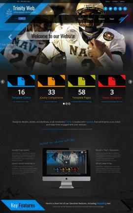 Trinity Football Website Template