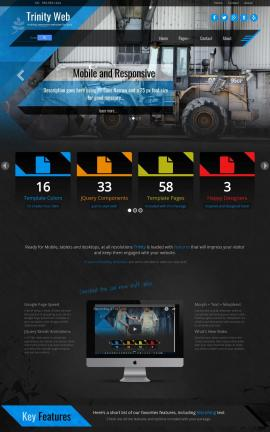 Trinity Heavy-machines Website Template