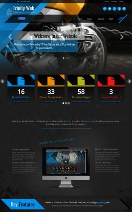 Trinity Motorcycle Dreamweaver Template