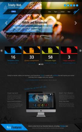Trinity Music Website Template