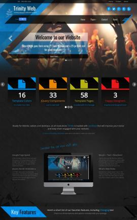 Trinity Night-club Website Template