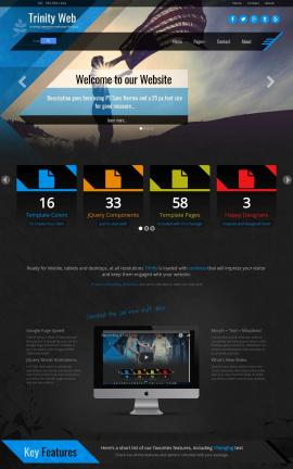 Trinity Patriotic Web Template
