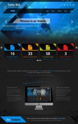 Trinity Scuba-diving Website Template