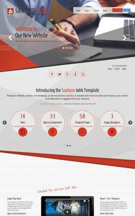 Santana Accounting Website Template