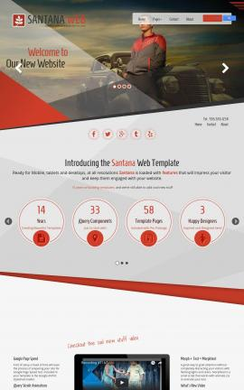 Santana Automobile Website Template