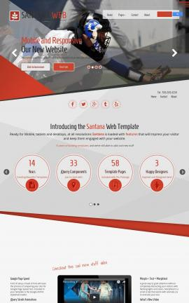 Santana Baseball Website Template