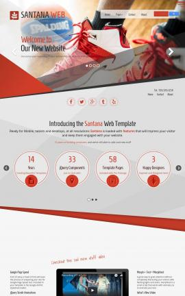 Santana Basketball Website Template