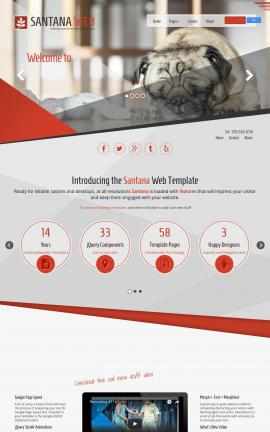 Santana Dogs Website Template