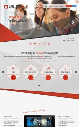 Santana Education Website Template