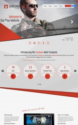 Santana Fishing Website Template