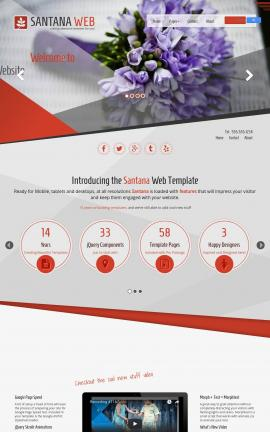 Santana Floral Website Template
