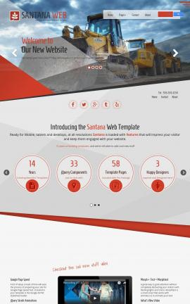 Santana Heavy-machines Website Template