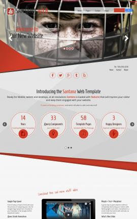 Santana Hockey Website Template