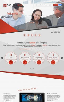 Santana Insurance Website Template