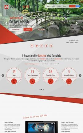 Santana Landscaping Website Template
