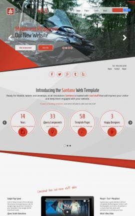 Santana Snowmobile Website Template
