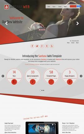 Santana Wedding Website Template