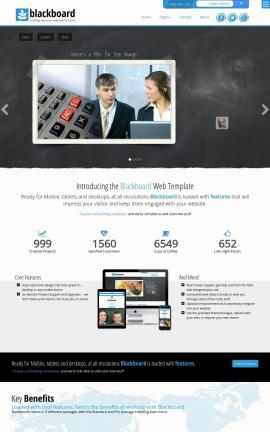 Blackboard Accounting Website Template