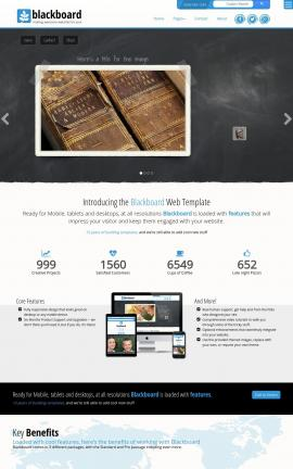 Blackboard Antiques Website Template