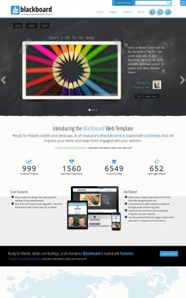 Blackboard Art-supplies Website Template