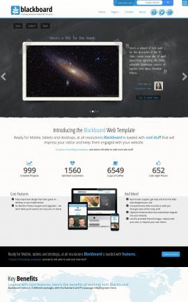 Blackboard Astronomy Website Template