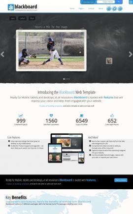 Blackboard Baseball Website Template