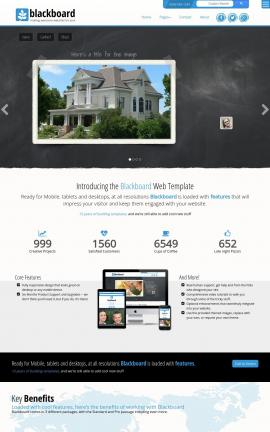 Blackboard Bed-and-breakfast Website Template