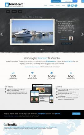 Blackboard Boating Website Template