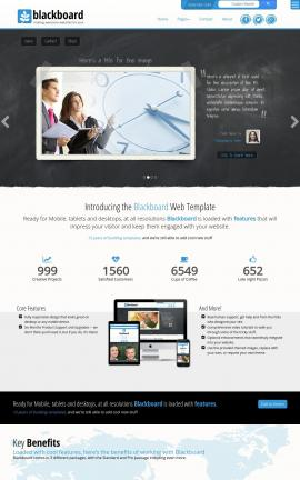 Blackboard Business Website Template