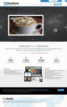 Blackboard Cafe Website Template