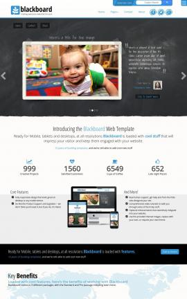 Blackboard Child-care Website Template