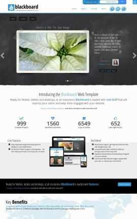 Blackboard Christmas Website Template