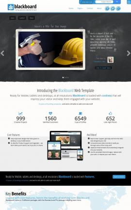 Blackboard Construction Website Template