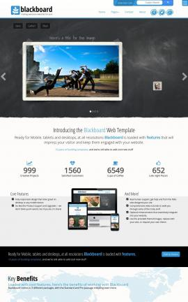 Blackboard Dance Dreamweaver Template