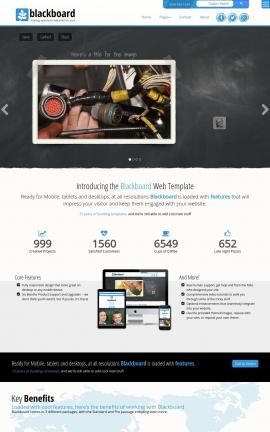 Blackboard Electrical Website Template