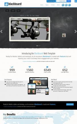 Blackboard Fishing Website Template