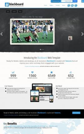 Blackboard Football Website Template