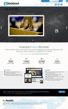 Blackboard Gymnastics Website Template