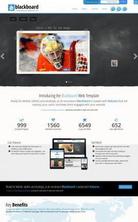 Blackboard Hockey Website Template