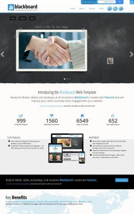 Blackboard Insurance Website Template