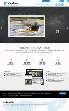 Blackboard Kayak Website Template