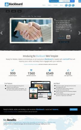 Blackboard Law Website Template